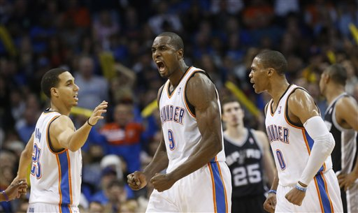 Serge Ibaka, Kevin Martin, Russell Westbrook