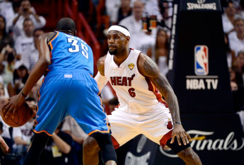 kevin durant lebron james oklahoma city thunder miami heat nba finals