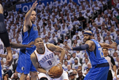 russell westbrook dallas mavericks oklahoma city thunder vince carter jason kidd