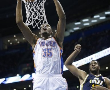 durant favors thunder jazz nba