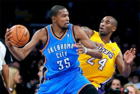 durant kobe bryant lakers thunder