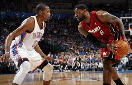 durant lebron james miami heat thunder finals