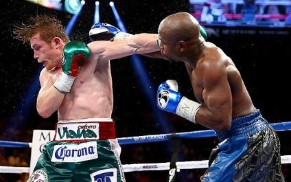 mayweather alvarez boxing