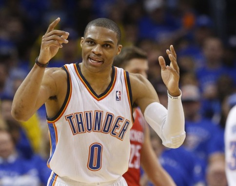 russell westbrook chandler parsons thunder rockets