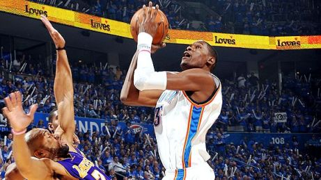 durant fisher lakers thunder
