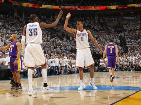 durant westbrook thunder lakers fisher farmer