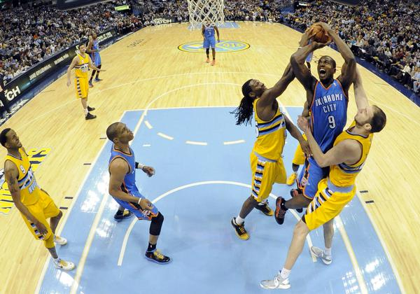 The Denver Nuggets versus Oklahoma City Thunder