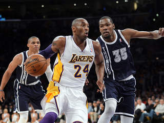 durant kobe westbrook thunder lakers