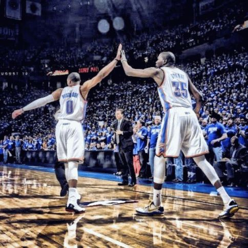 Kevin-Durant-and-Russell-Westbrook thunder