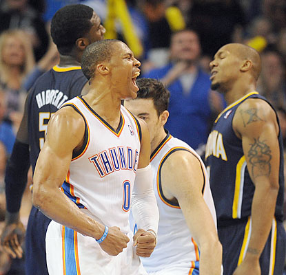 westbrook collison west hibbert thunder pacers