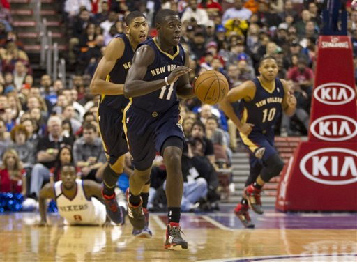 Jrue Holiday, Tony Wroten, Anthony Davis