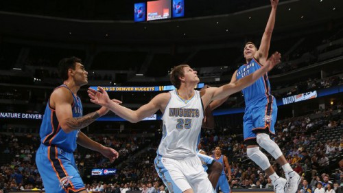 mcgary adams mozgov thunder nuggets