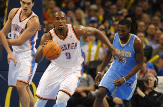 ibaka adams faried thunder nuggets