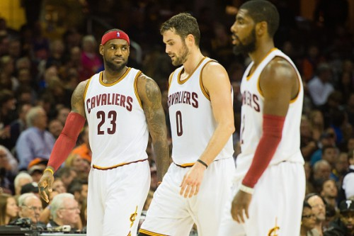 lebron james kevin love kyrie irving cavs