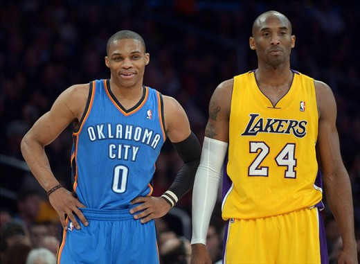 westbrook thunder bryant lakers