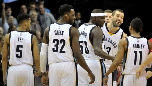 Courtney Lee, Jeff Green, Zach Randolph, Marc Gasol, Mike Conley