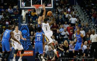 westbrook jackson adams ibaka thunder evans asik pelicans