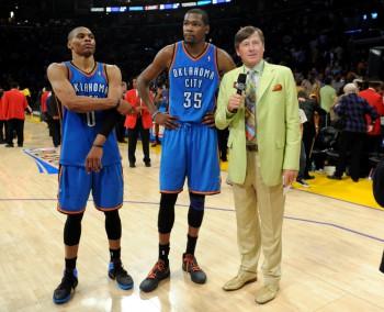 USP NBA: PLAYOFFS-OKLAHOMA CITY THUNDER AT LOS ANGELES LAKERS S BKN USA CA