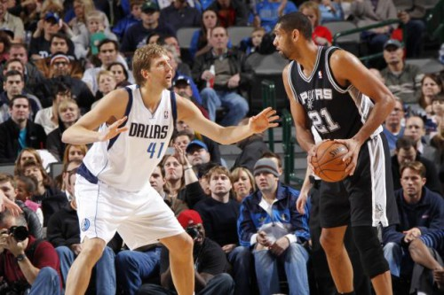nowitzki mavericks duncan spurs