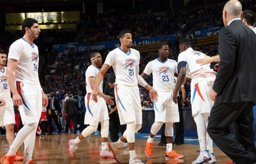 adams kanter westbrook roberson waiters morrow thunder